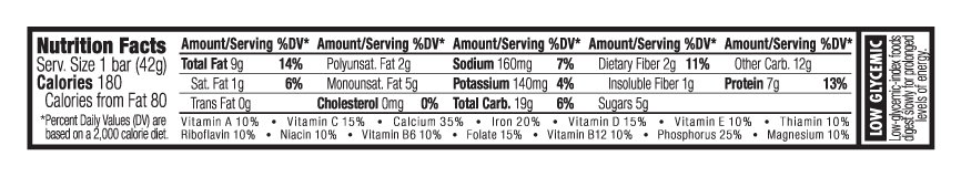 Cinnamon Almond Swirl Nutritional Facts