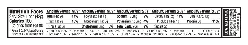 Dark Chocolate Hazelnut Nutritional Facts