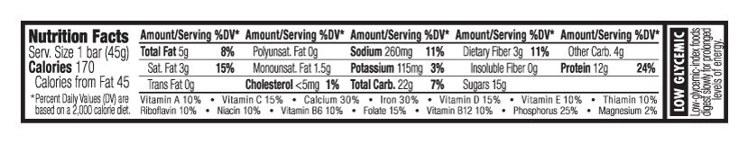 Chocolate Salted Caramel Nutritional Facts