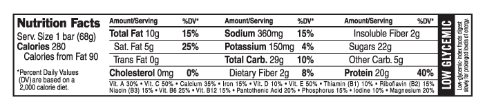 Crunchy Peanut Butter Nutritional Facts
