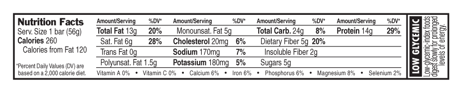 Coconut Almond Chocolate Nutritional Facts